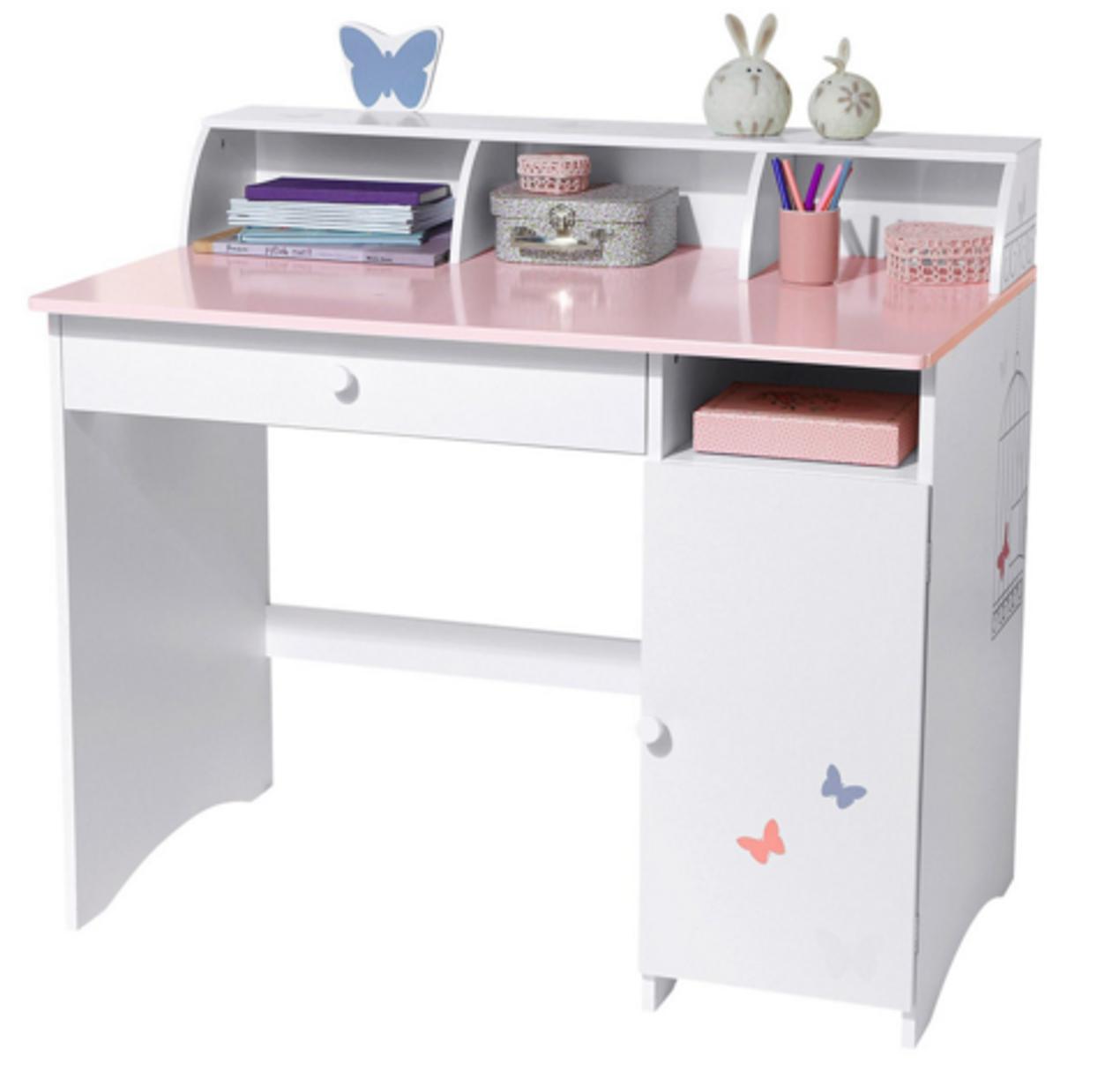 Schreibtisch Kinderzimmer Kinder Weiss Kind Tabelle Gestaltung Farbe Passen  Ltere Sch Frau Mit Wei Fer Hauch - Frau Am Schreibtisch PNG