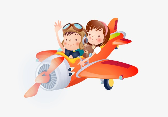 Free Airplane PNG For Kids - 160108