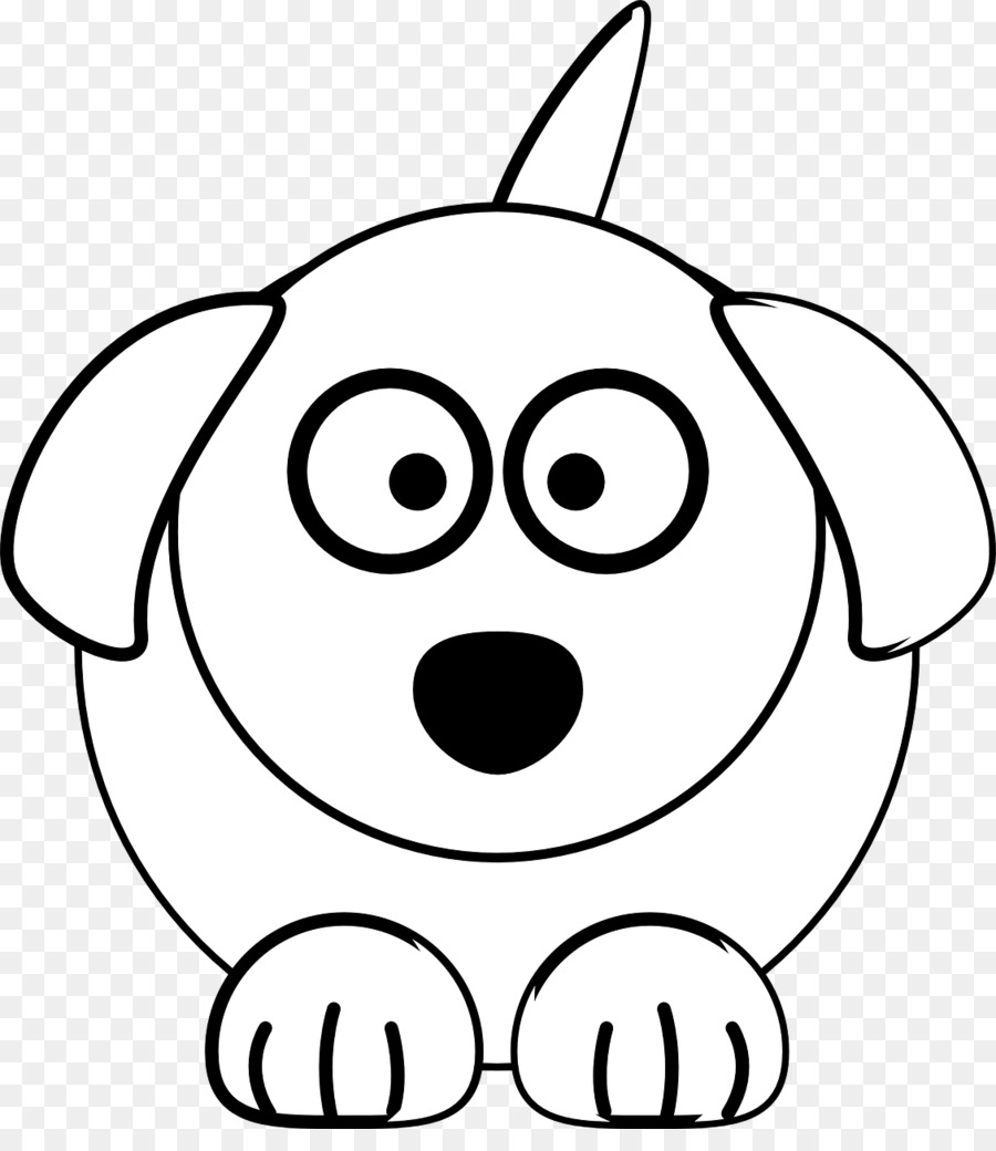 Dog Cat Black and white Clip art - White dog - Free Black And White PNG Of Dogs