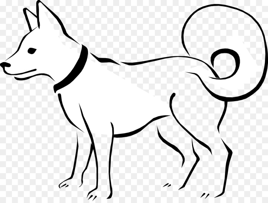 Dog Puppy Black and white Clip art - Free Dog Clipart - Free Black And White PNG Of Dogs