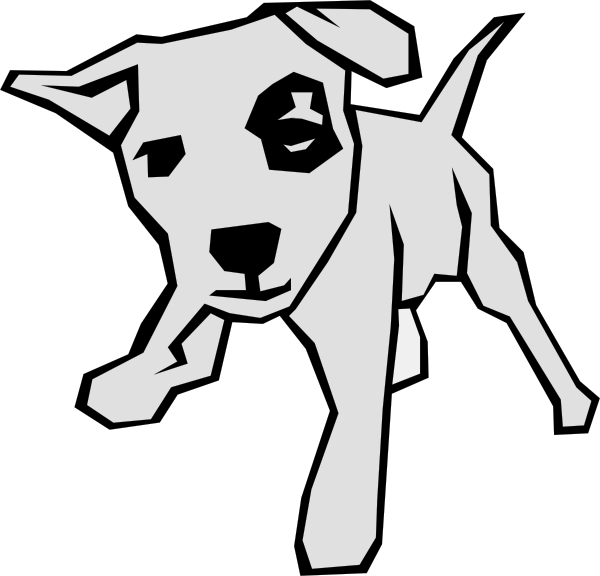 dog simple drawing 5 black white line art scalable vector graphics . - Free Black And White PNG Of Dogs
