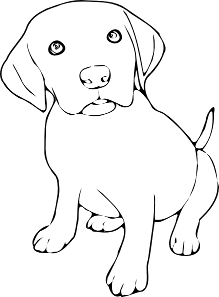 free black and white clipart - Free Black And White PNG Of Dogs