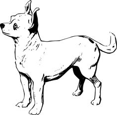 Free Chihuahua png you can use to make an SVG File. - Free Black And White PNG Of Dogs
