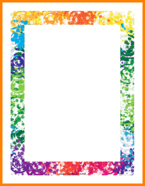 Free Border PNG For Word - 166136