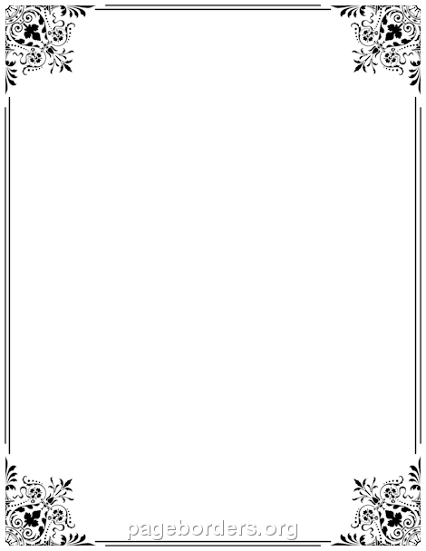 Free Border PNG For Word - 166128