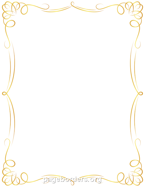 Free Border PNG For Word - 166146