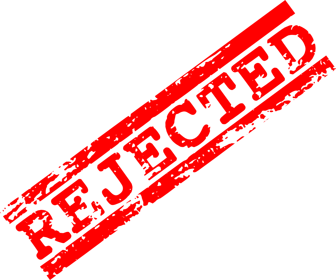 Rejected Stamp PNG - 3885