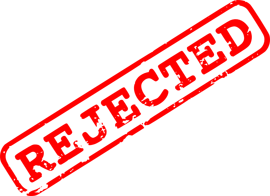 Rejected Stamp PNG - 3883