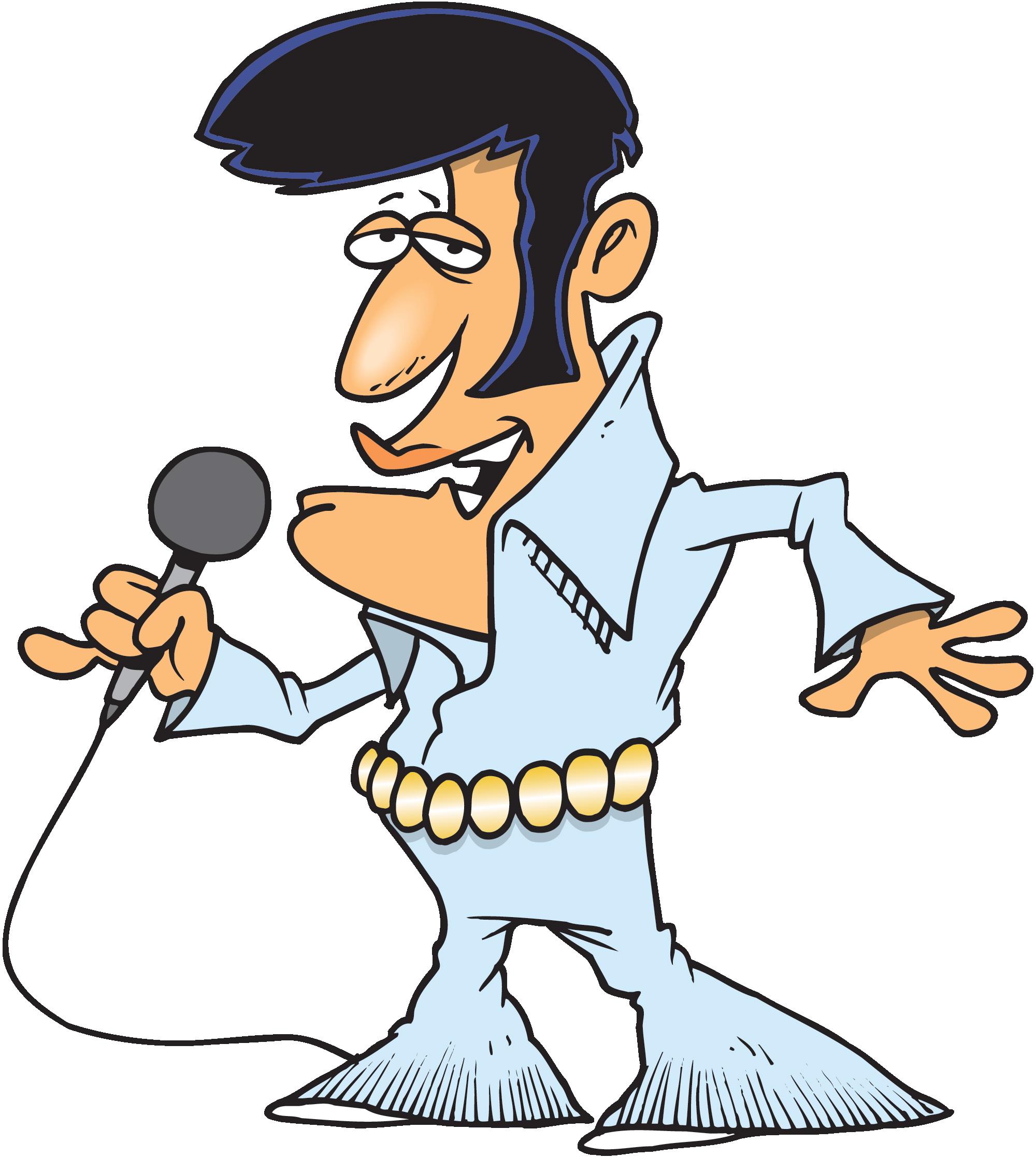 Cartoon Elvis Presley Clipart - Free Elvis PNG
