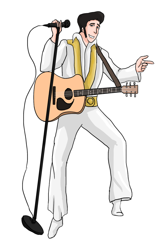 Free Cartoon Elvis Presley Clipart - Free Elvis PNG