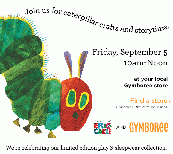 Gymboree has launched a new, limited-edition Eric Carle play and sleepwear  collection and is inviting parents to bring their kids to a FREE Eric Carle  PlusPng.com  - Free Eric Carle PNG