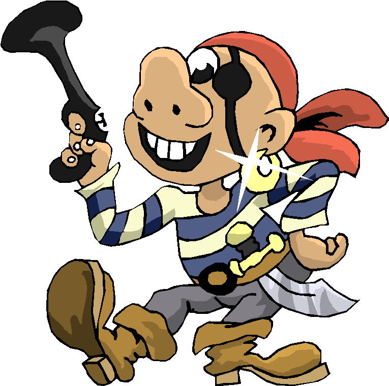 Funny Pirate Clipart - Free Funny Animated PNG HD