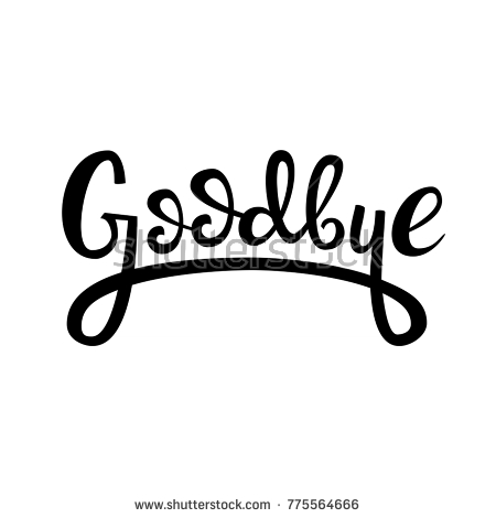 lettering logo: Goodbye, Hand sketched Goodbye lettering typography. Hand  drawn Goodbye lettering sign - Free Goodbye PNG HD