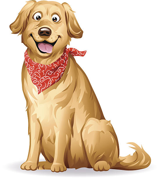 Golden Retriever vector art illustration - Free Labrador Retriever PNG