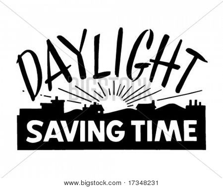 Daylight Saving Time - Ad Banner - Retro Clipart - Free PNG Daylight Savings Time