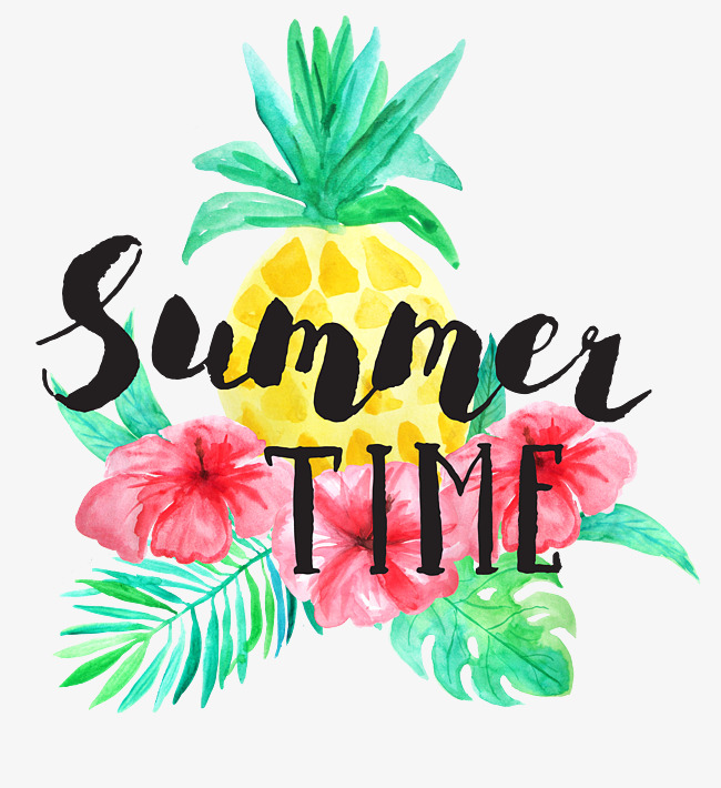 fresh watercolor tropical plant summer time, Summer Time, Tropical Plants, Summer  PNG Image - Free PNG Daylight Savings Time