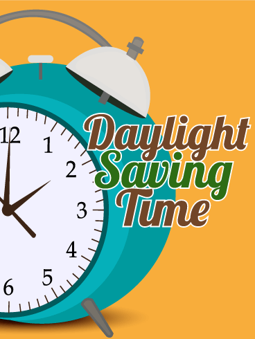 Orange Daylight Saving Time Card - Free PNG Daylight Savings Time