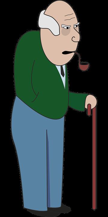 cane elder elderly grandfather grandpa grumpy - Free PNG Elderly