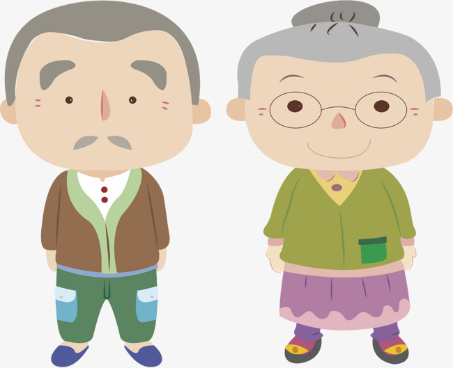 Elderly, Cartoon, Character, Old People PNG and Vector - Free PNG Elderly