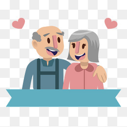 Elderly couple, Elderly Couple, 2 People, Happy PNG Image and Clipart - Free PNG Elderly