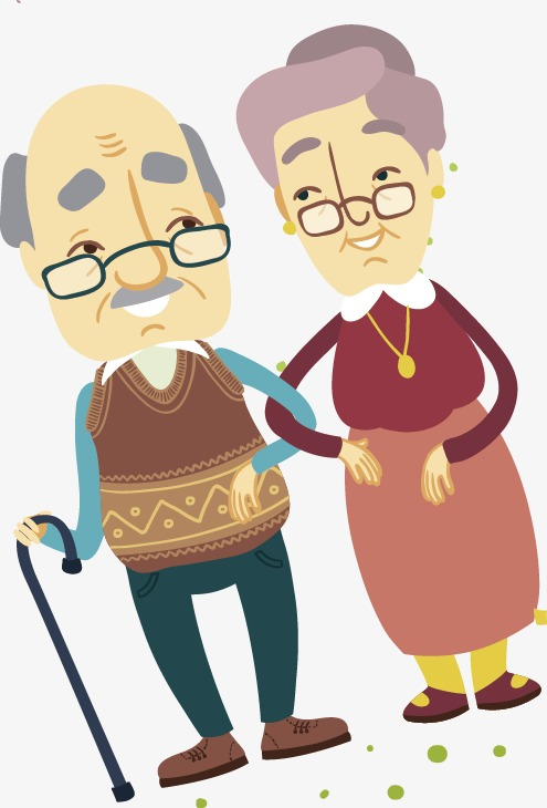 Elderly couple, Family, Cartoon, Character PNG and Vector - Free PNG Elderly