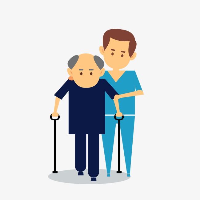 Elderly crutches, Elderly Care, Rehabilitation, Medical Scene PNG and Vector - Free PNG Elderly