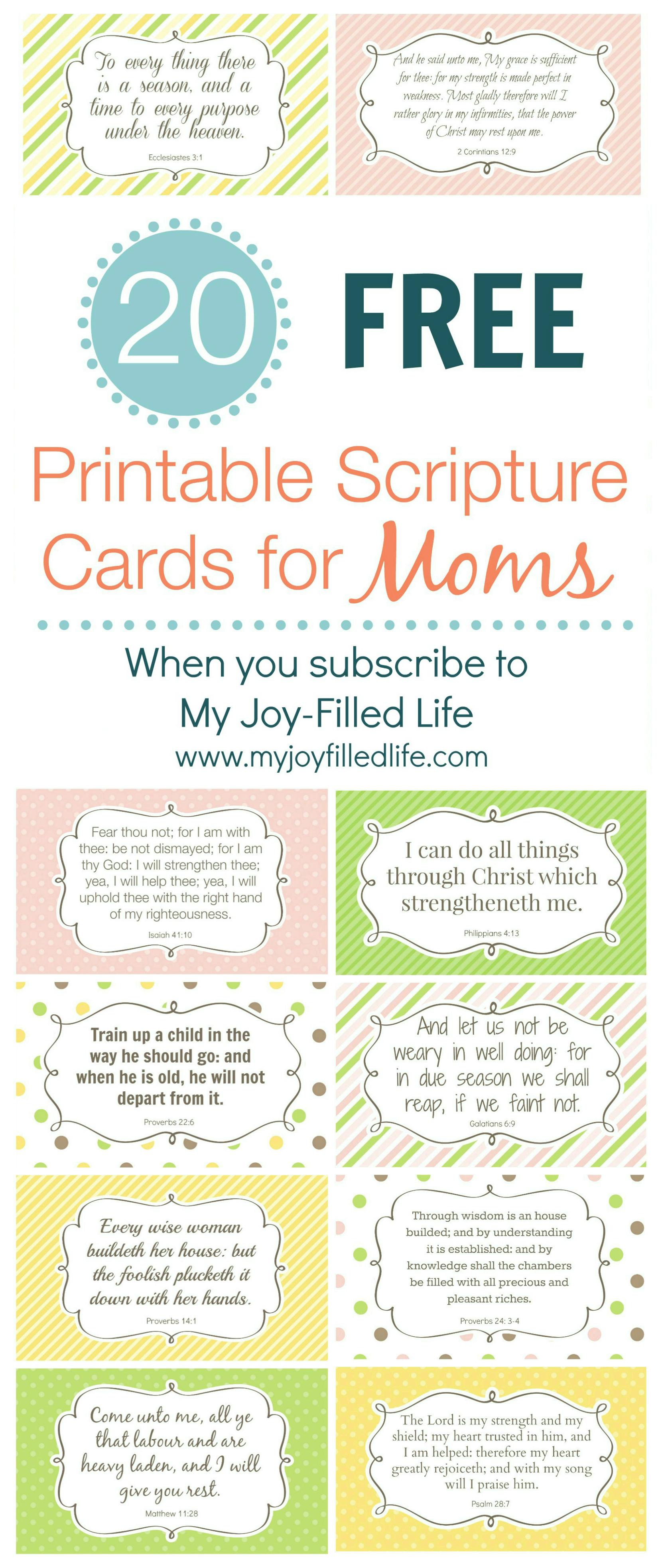 Encouragement For Moms - FREE Printable Scripture Cards - My Joy-Filled Life - Free PNG Encouragement