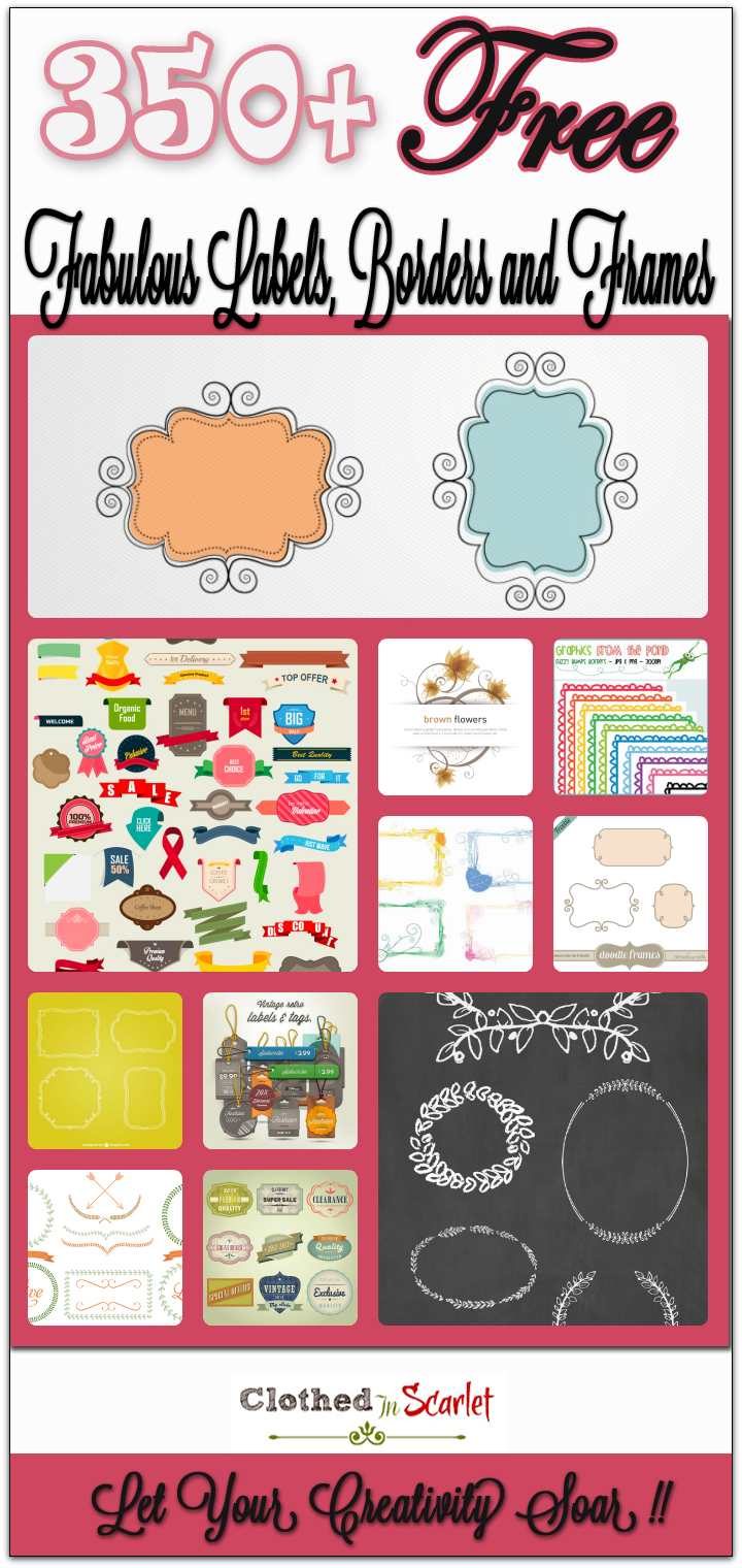350  Free Fabulous Labels, Borders and Frames - Free PNG Fabulous