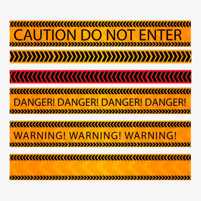 6 fabulous design vector material warning tape Free PNG and Vector - Free PNG Fabulous