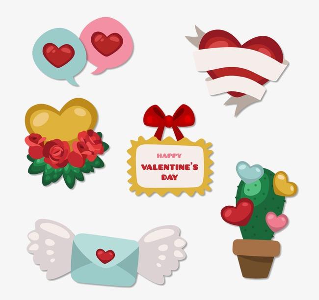 6 fabulous Valentineu0027s Day element vector, Valentineu0027s Day, Vector, Cartoon Free  PNG and Vector - Free PNG Fabulous