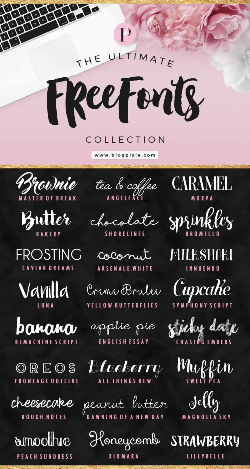 The Ultimate Free Fonts Collection - Free PNG Fonts