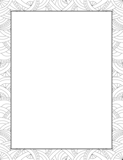 Abstract Pattern Border - Free PNG Frames And Page Borders