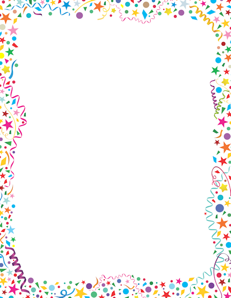 Free confetti border templates including printable border paper and clip  art versions. File formats include GIF, JPG, PDF, and PNG. - Free PNG Frames And Page Borders