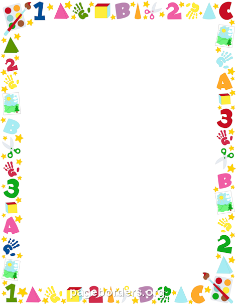 Free preschool border templates including printable border paper and clip  art versions. File formats include GIF, JPG, PDF, and PNG. - Free PNG Frames And Page Borders