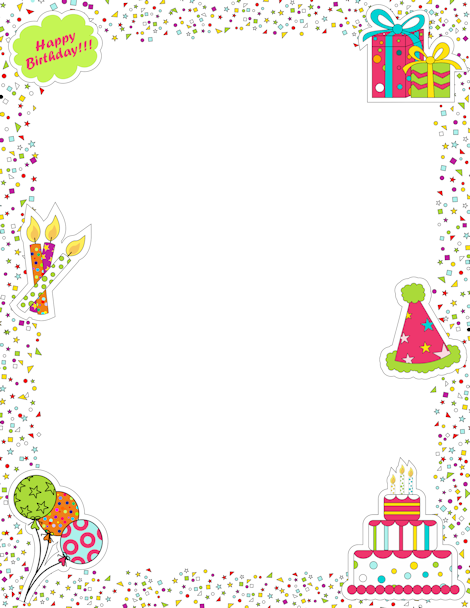 see 4 best images of free printable happy birthday borders free printable birthday borders free