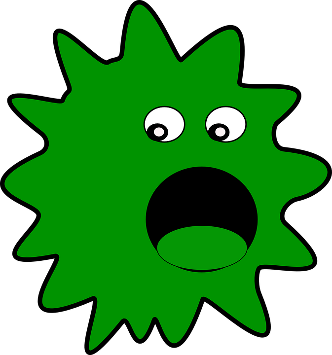 Virus, Vermin, Germs, Green, Creature, Cartoon - Free PNG Germs