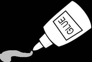 Glue Outline Clip Art - Free PNG Glue