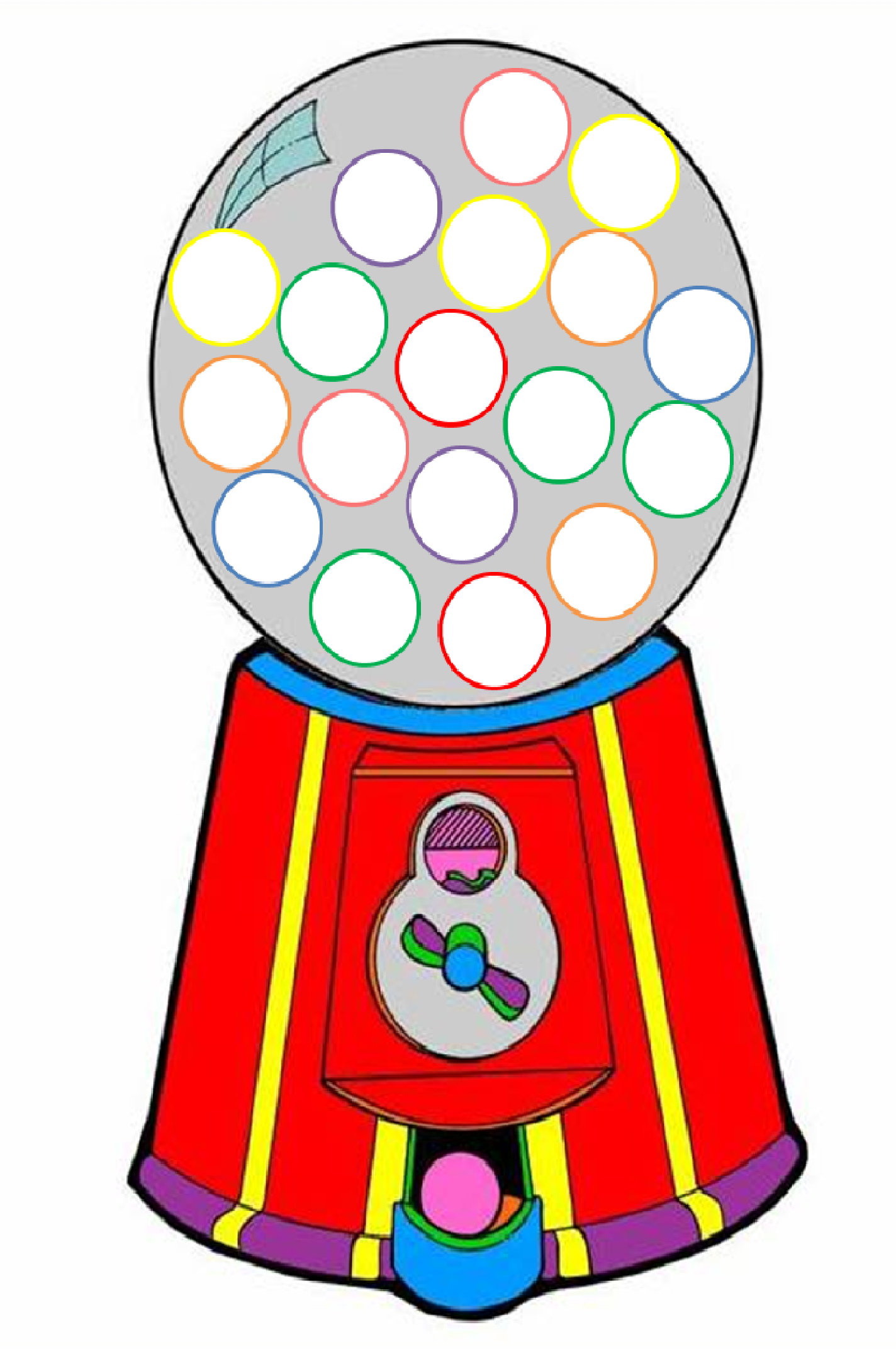 Gumball Machine Clipart - Free PNG Gumball Machine