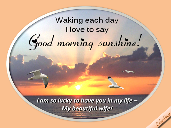 Good Morning My Beautiful Wife! - Free PNG Have A Good Day
