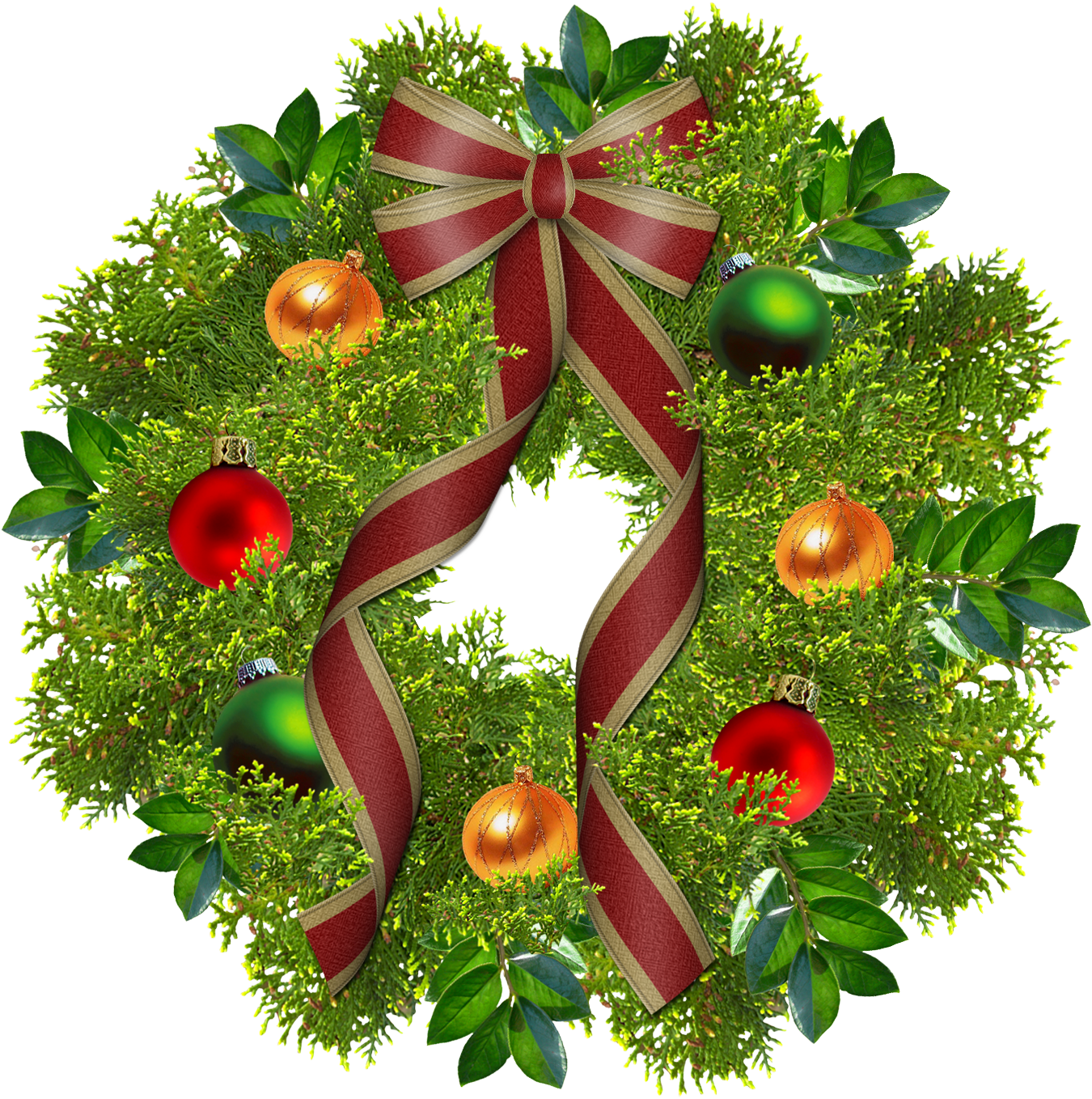 Christmas decoration PNG - Free PNG HD Christmas Wreath