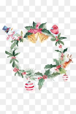 Christmas wreath element, Snowflake, Snow Mountain, Christmas PNG Image - Free PNG HD Christmas Wreath