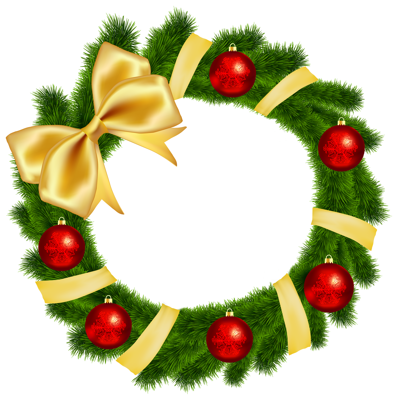 Christmas Wreath with Yellow