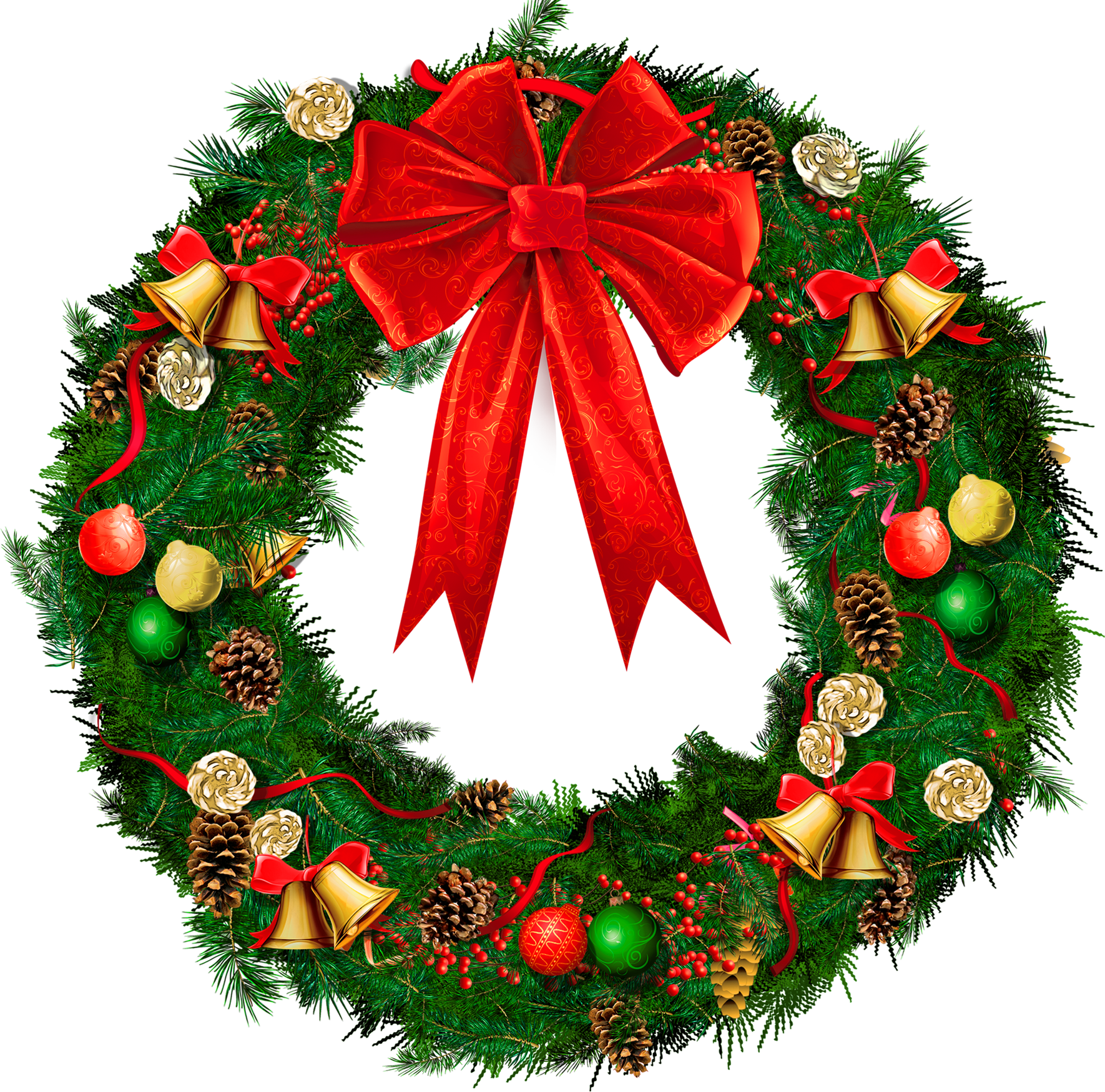 Christmas Wreaths Clip Art - Clipart library - Free PNG HD Christmas Wreath