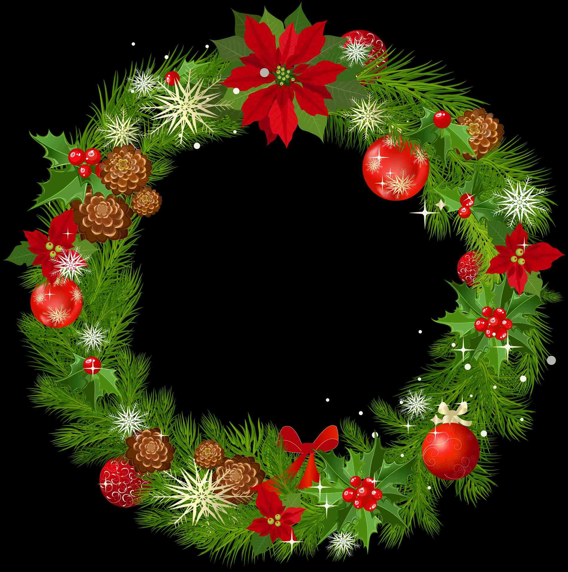 color png hd mart png real christmas wreath transparent background hd mart  pine garland cliparts free - Free PNG HD Christmas Wreath
