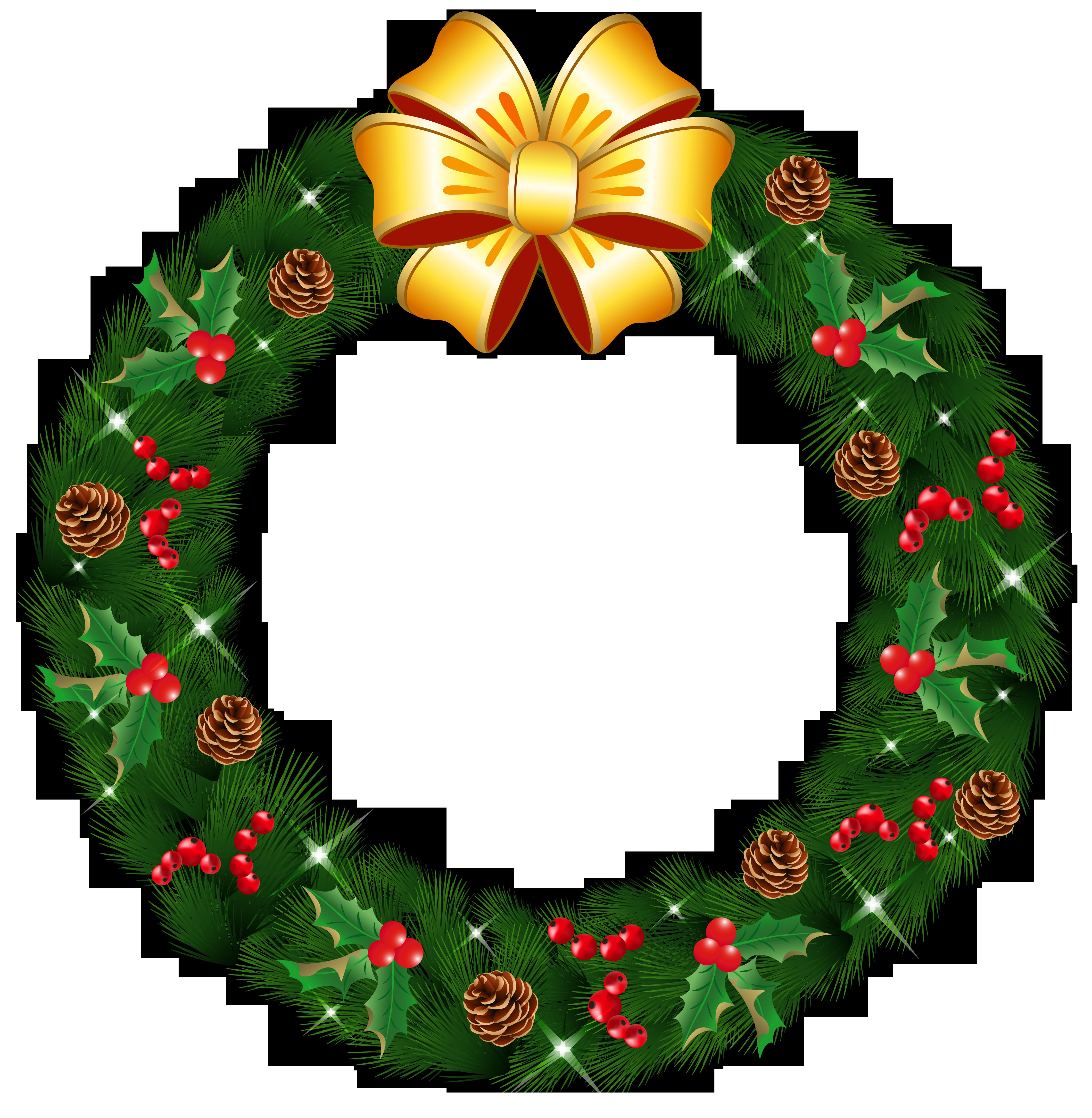 Free PNG HD Christmas Wreath - 126838