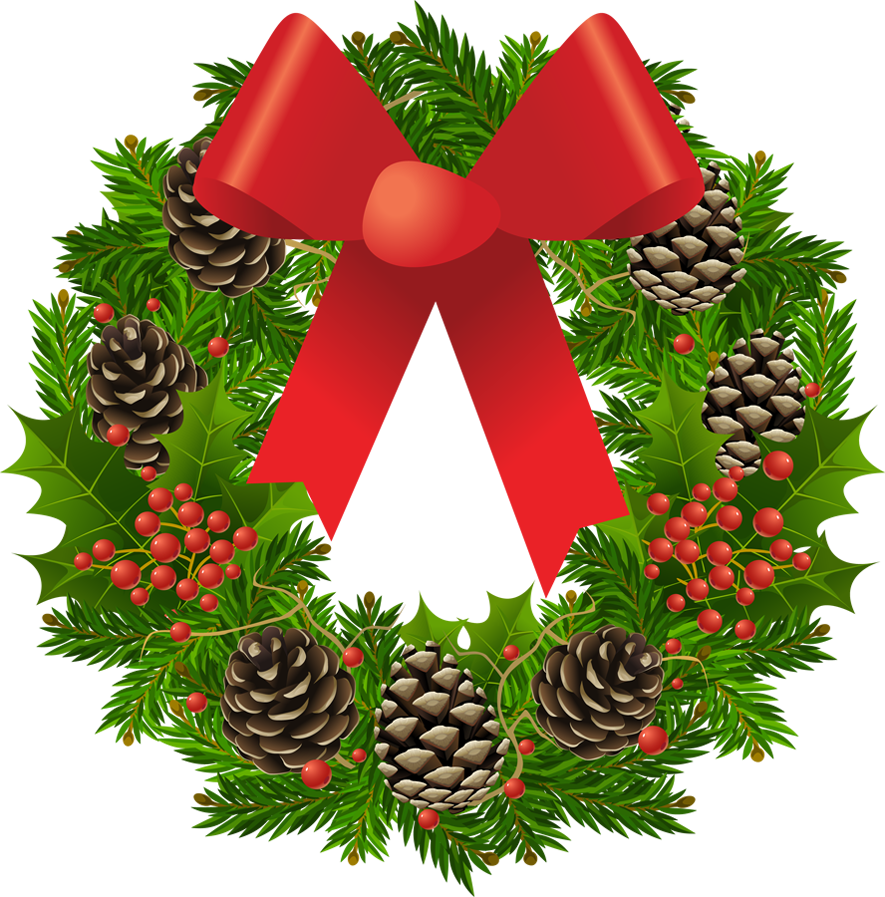 Transparent Christmas Wreath Clipart Picture - Free PNG HD Christmas Wreath