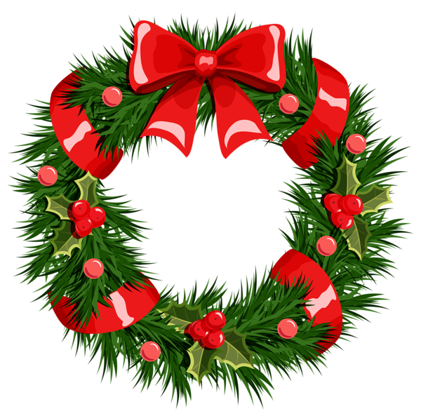Transparent Christmas Wreath PNG Clipart - Free PNG HD Christmas Wreath