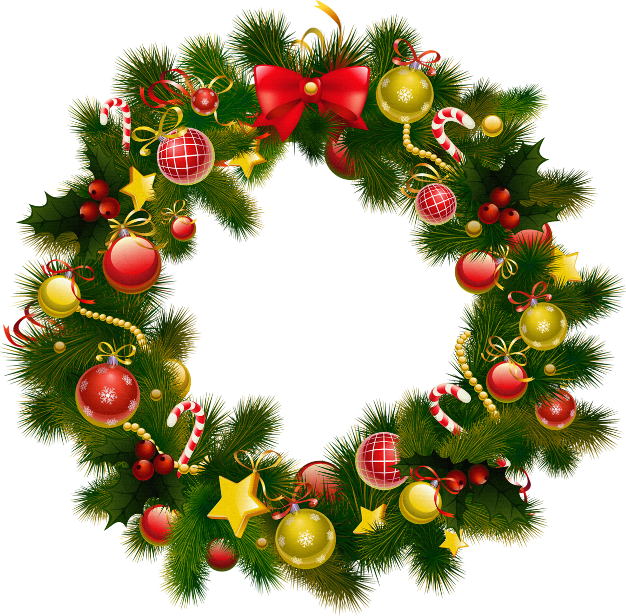 Xmas Stuff For Christmas Wreath Clipart - Free PNG HD Christmas Wreath