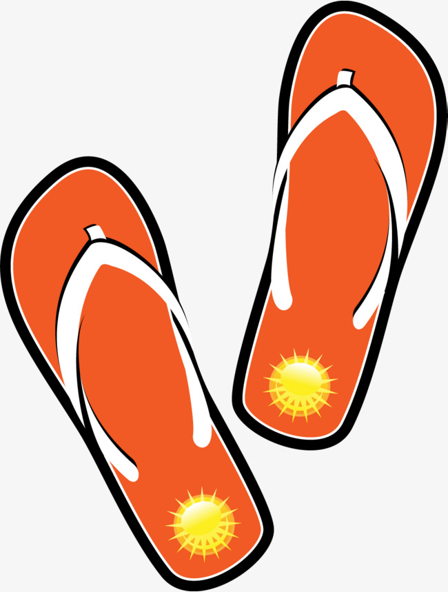 Cartoon orange flip flops, Cartoon, Orange, Flip Flops Free PNG Image - Free PNG HD Flip Flops