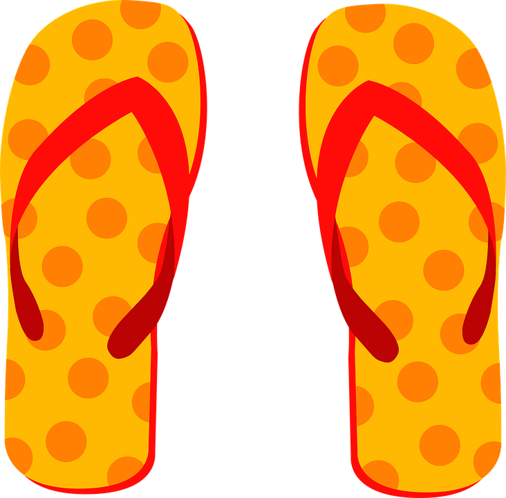 Flip Flops, Slippers, Beach Shoes, Heart, Summer - Free PNG HD Flip Flops
